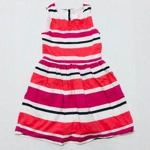 5/$25 Gymboree girls pink striped layered dress 10